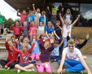 Face painting fun at Smile Club summer 2016